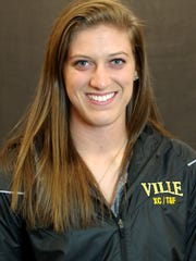 Millersville track & field athlete Amanda Myers (Red