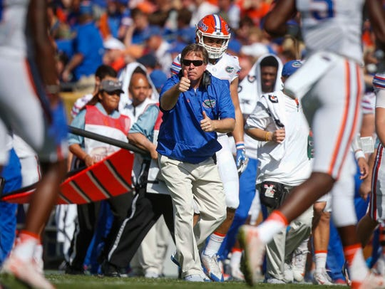 University of Florida head football coach Jim McElwain