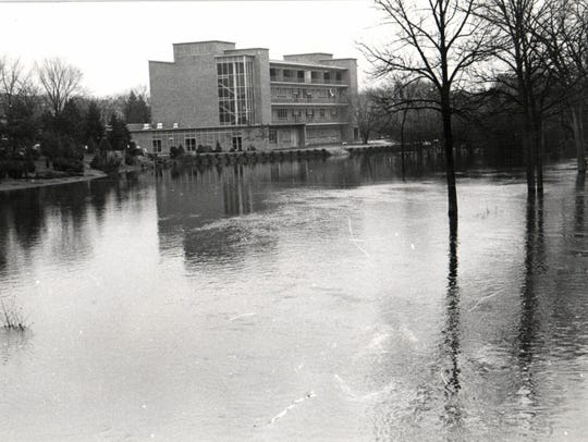 The Red Cedar river in 1960.