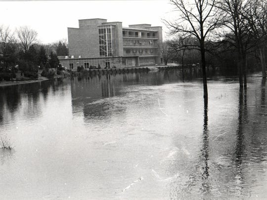 The Red Cedar river in 1960.