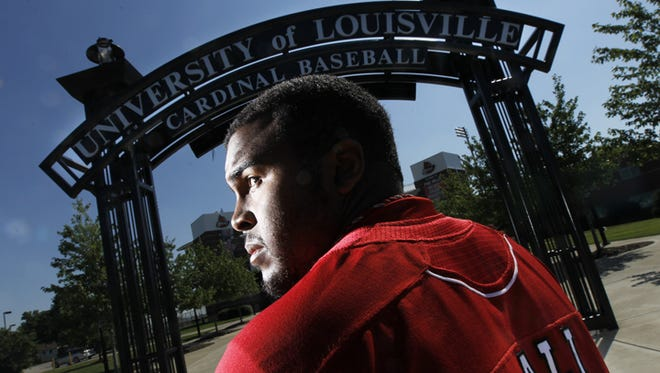 Asaad Ali played football, basketball and baseball in high school, but is focused on baseball at the University of Louisville.