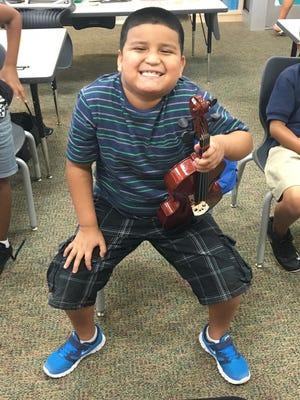 Armando Leon is a student in Gulf Coast Symphony's MusicWorks! program.
