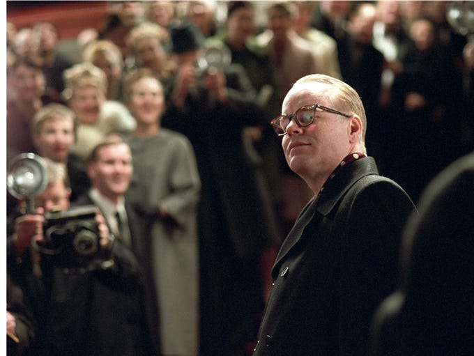"""Philip Seymour Hoffman was found dead in his New York City apartment on Feb. 2, 2014. Hoffman is seen here as Truman Capote in """"Capote."""""""
