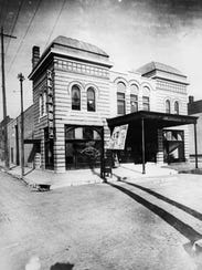 A photo of the Alhambra Theatre around when it first