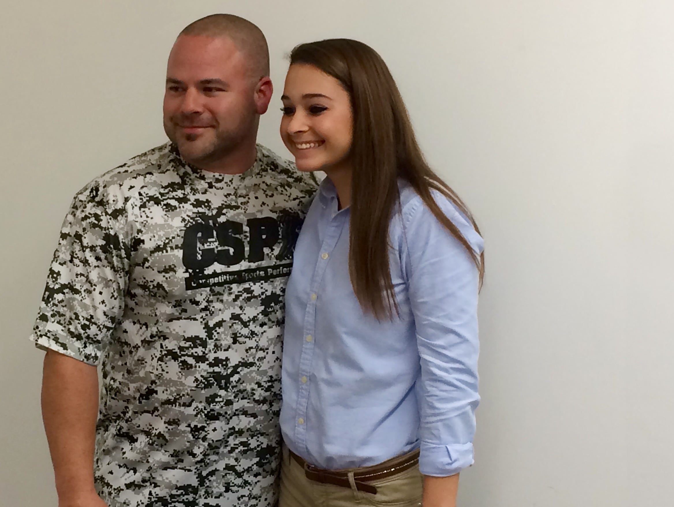 Darby Fitzpatrick (right) with her trainer, Dominick Flora from Eden's CSP.