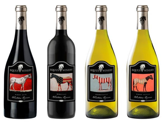 The equestrian theme of Equus Club at Lake Keowee plays prominently in proposed wine-label designs.