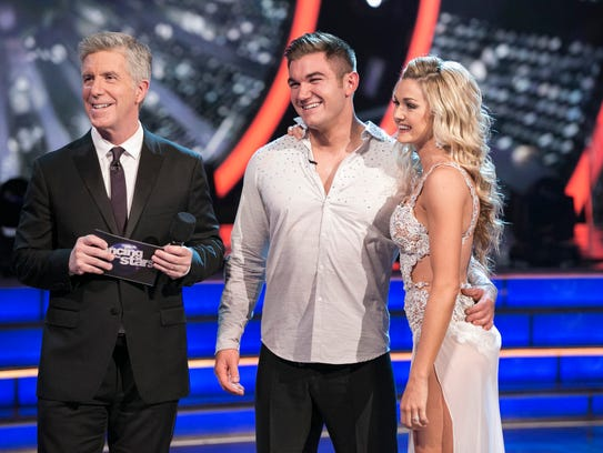 'Dancing with the Stars' host Tom Bergeron,  left,