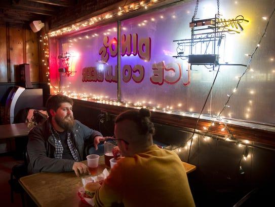Alex Robinson, left, and Tyler Maraist, both of Nashville,