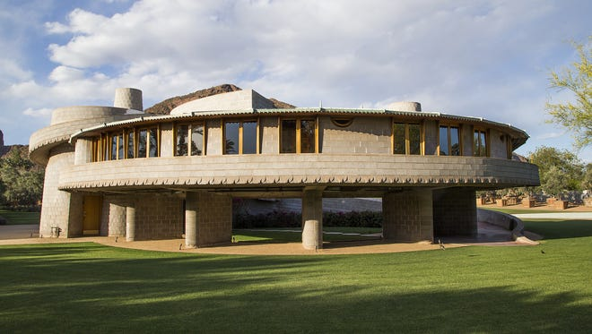 This is the David and Gladys Wright House near 52nd St. and Camelback, Thursday, April 16, 2015.  It was designed by famous architect, Frank Lloyd Wright.