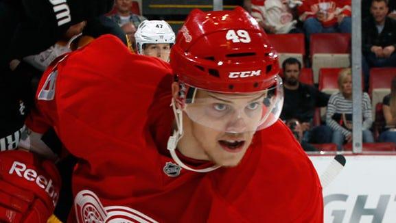 Red Wings forward Andrej Nestrasil
