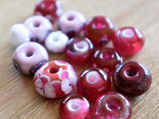 Glasses beads designed and made by Michelle Korwin-Edson.