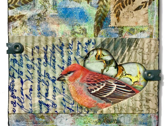 """Cynthia Wolfe, """"Love Note,"""" collage."""