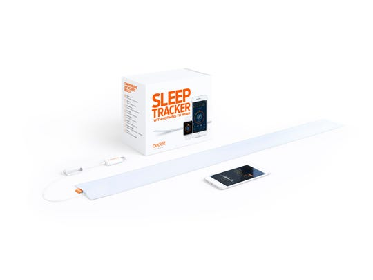 Slip the thin, soft Beddit sensor under your sheet, and Beddit automatically begins tracking as soon as you lie down.