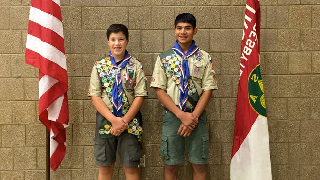 Kyle Morris and Bryce Reinhart of Troop 755 each attained the rank of Eagle Scout.