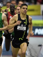 Matthew Centrowitz wins the mile at the 2015 USA Indoor Championships.