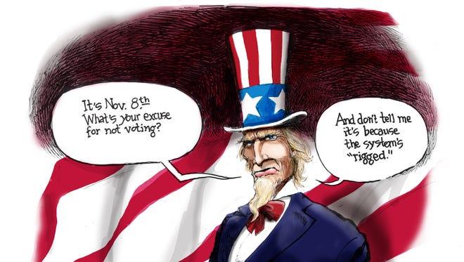 Cartoon for Nov. 8, 2016.