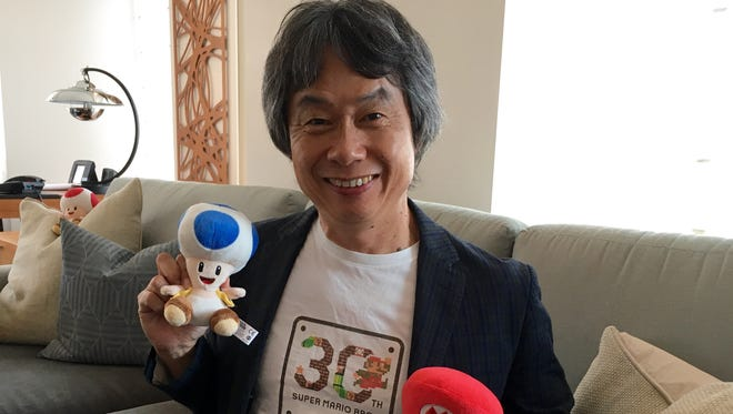 Super Mario creator Shigeru Miyamoto, who appeared at Apple's iPhone 7 event to announced that his iconic gaming creation would be coming to the App Store in December.