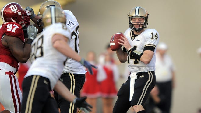 FILE – A former QB for Purdue, Joey Elliott is now a scout for the Colts.