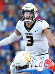 Missouri quarterback Drew Lock calls a play against Florida last November.