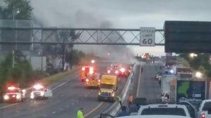 Noon Update: I-26 Crash, Fire