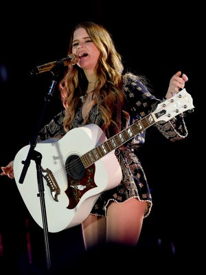 Maren Morris performs onstage at New Faces of Country Music Dinner & Performance in February.