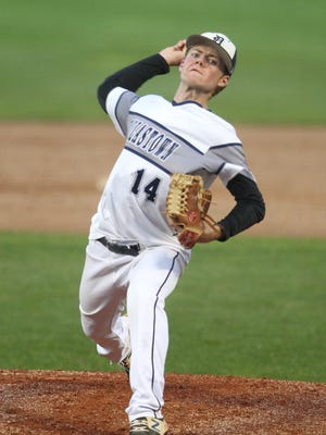 Dallastown High School pitcher Alex Weakland is shown here in a file photo. Next season, under a new PIAA rule, high school pitchers will compete under a slightly increased pitch-count rule. YORK DISPATCH FILE PHOTO