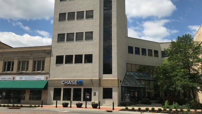 The Chase Bank building on North Third Street in downtown Newark.