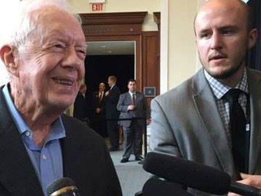 Jimmy Carter, left, and Dave Boucher