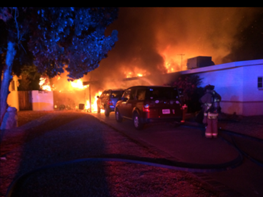 Approximately 55 firefighters from Scottsdale, Tempe