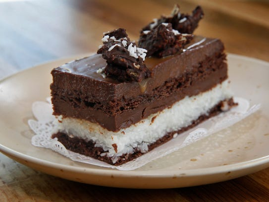 """The Caramel Delight """"candy bar"""" at Batches is a layer"""