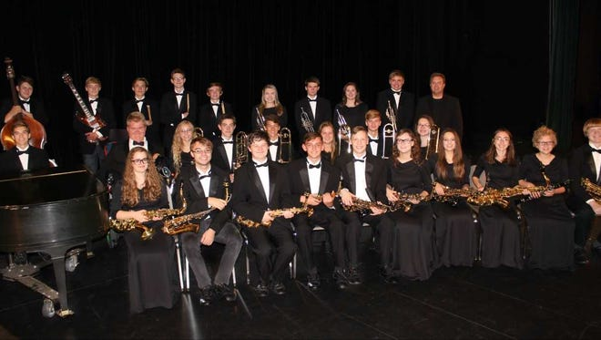The D.C. Everest Jazz Band performed at a Jan. 17 convention.