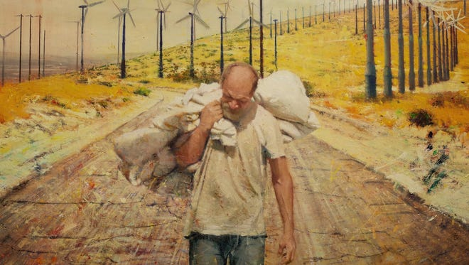 """""""Walking Man,"""" oil on canvas by Tom Birkner, will be part of the the exhibit """"Here & Now,"""" opening at the Museum of Art on Friday, May 11."""