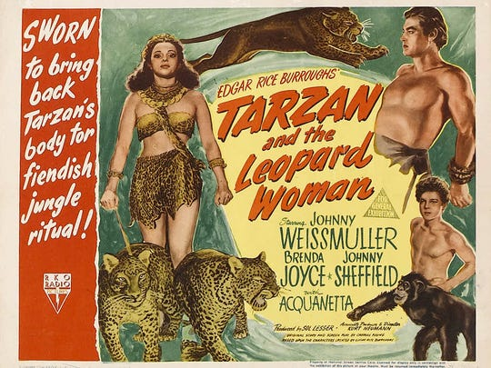 "Memphis Film Festival guest Tommy Cook may not have made the poster but he certainly made an impression in ""Tarzan and the Leopard Woman"""
