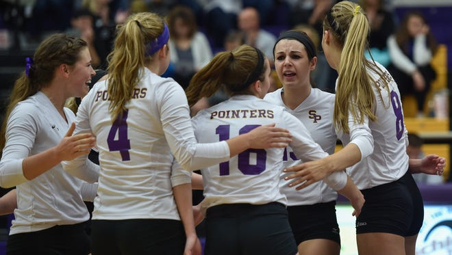 The University of Wisconsin-Stevens Point volleyball team knocked off Elmhurst (Ill.) in four sets in an NCAA Division III regional opener Thursday night.