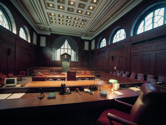 Superior courtroom 301 where Capano trial will be held. Photo taken October 5, 1998.