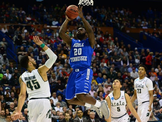 Middle Tennessee and Giddy Potts broke Michigan State's hearts two years ago in the first round of the NCAA tournament.