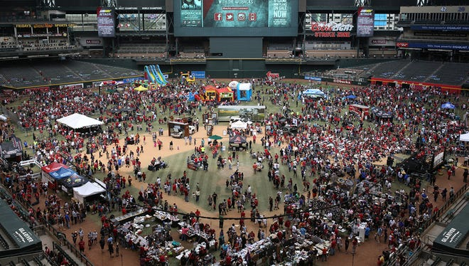Meet Arizona Diamondbacks players, purchase game-used items and play games at the event at Chase Field in Phoenix.