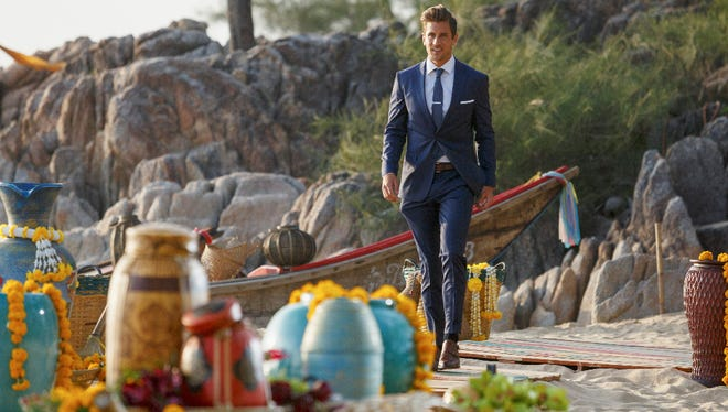 "Jordan Rodgers makes the nerve-wracking walk to the final rose ceremony on Monday night's finale of ""The Bachelorette."""