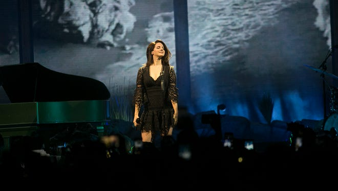 Lana Del Rey performs at Talking Stick arena Tuesday, Feb. 13 in Phoenix.