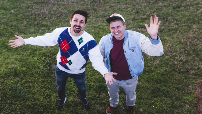 """Austin Bever, left,andColinCooper, better known as """"Austin and Colin,"""" are putting on their first-ever stand-up comedy show."""
