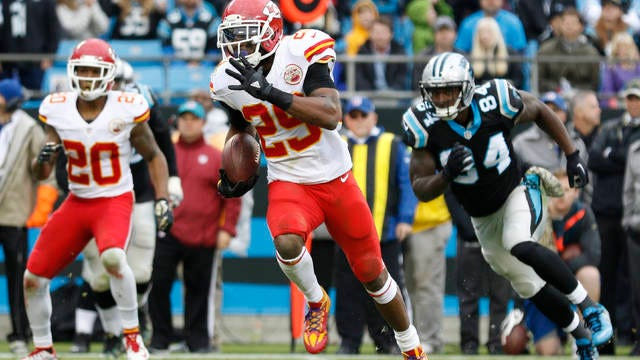 Eric Berry (29) is one of two former University of Tennessee standouts named this week to the NFL's All-Decade team of the 2010s, along with Cordarrelle Patterson.