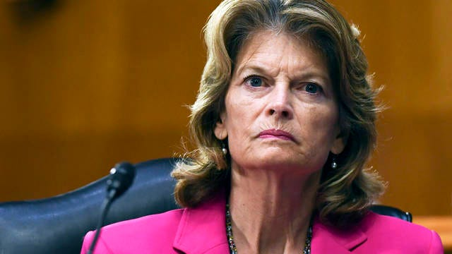 Sen. Lisa Murkowski, R-Alaska, listens to testimony by Dr. Anthony Fauci, director of the National Institute of Allergy and Infectious Diseases, before the Senate Committee for Health, Education, Labor, and Pensions hearing on May 12 on Capitol Hill in Washington.