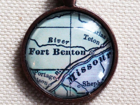 This Fort Benton vintage map pendant can be found in