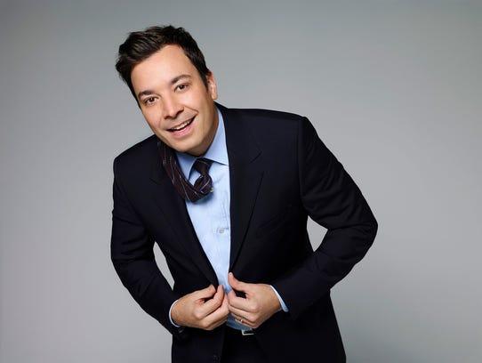 "Season one, 2014, portrait of ""Tonight Show"" host Jimmy Fallon. CREDIT: James White, NBC ORG XMIT: Season:1 [Via MerlinFTP Drop]"