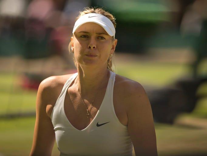 Maria Sharapova lost to Serena Williams in the quarterfinals