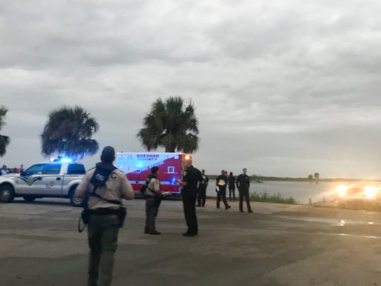 The scene at Lone Cabbage Fish Camp in west Cocoa where