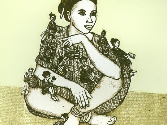 """Peace of Mind"" etching by Nandini Pantawane."