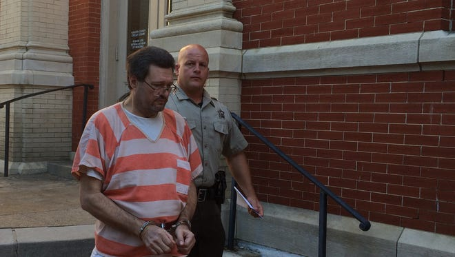 Andy Adwell is taken to Middle River Regional Jail on Tuesday after being convicted of fondling a young girl