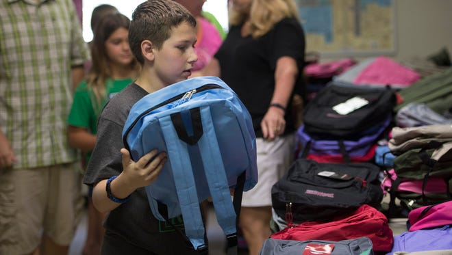 TrinityUnitedMethodistChurch at2221 N.E. Savannah Road inJensenBeach will host its annual Back to School Fair 10:30 a.m. to2p.m.Saturday and will give away 400 backpacks filled with supplies for children in need.