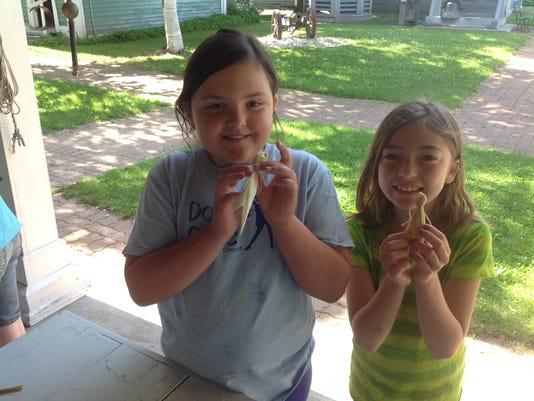 Corn Husk Dolls - Ava Ehrhardt and Hailey Wessels